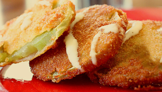 An image of Fried green tomatoes
